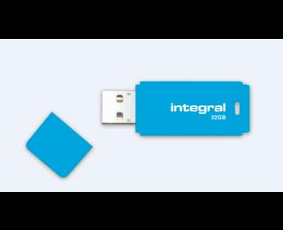 Clé USB 32 GO - INTEGRAL - Néon bleu