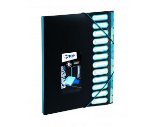 Trieur A4 - TOP OFFICE - 12 compartiments - Assortiment de couleurs