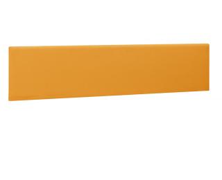 Ecran de séparation pour bureau - XERUS -  140 cm - Coloris mangue - Tissu