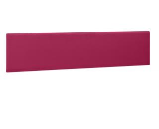 Ecran de séparation pour bureau XERUS - GAUTIER -  140 cm - Coloris framboise - Tissu