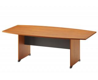 Table de réunion tonneau L204 cm - JAZZ + - Aulne/anthracite