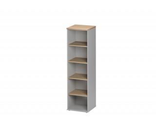 Bibliothèque L48 cm - JAZZ + - Hêtre/gris clair
