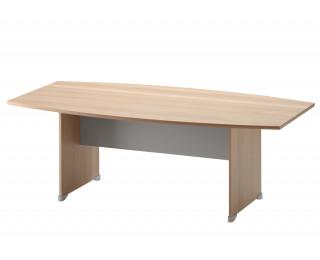 Table de réunion tonneau L204 cm - JAZZ + - Hêtre/gris clair
