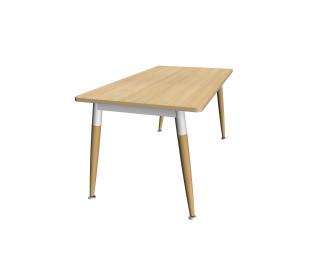 Bureau p cm wood cm plateau blanc pieds gris