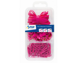 Kit de 100 attaches - TOP OFFICE - Rose