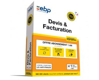 Logiciel - EBP - Devis Facture Dynamic + VIP - 12 mois