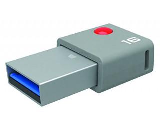Clé USB T400  DUO USB-C - EMTEC - 16 Go - Grise