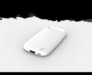 Batterie de secours PowerBank Pebble - MOBILITYLAB - 4000 mAh - Blanc