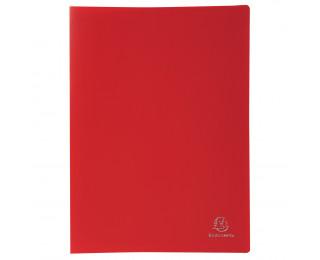 Lot de 25 protège-documents en polypropylène souple opaque 20 vues - A4 - EXACOMPTA - Rouge - 8515E