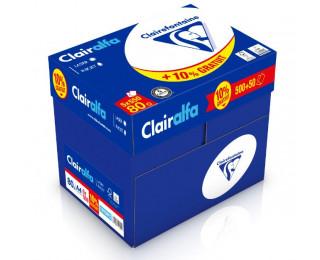 Caisse de 5 ramettes de papier 500 feuilles + 10% gratuit - CLAIREFONTAINE - A4 - 80g - Blanc