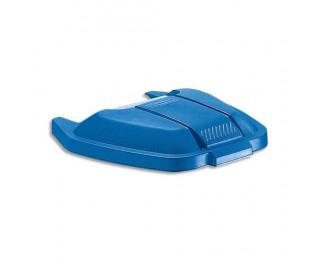 RUBBERMAID Couvercle bleu pour conteneur à roues capacité 100 Litres - Dim. : L51,5 x H8 x P56 cm - ADVEO - 844611