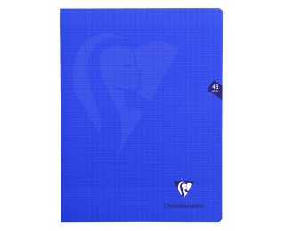 Cahier Mimesys - CLAIREFONTAINE - 48 pages - Grands carreaux - 24 x 32 - Bleu marine