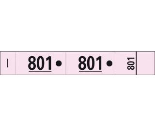 Carnet de 50 tickets vestiaires - 96604E - EXACOMPTA - Rose