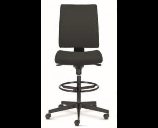 Chaise de bureau haute - INTRATA - Noir