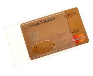 Etui anti-RFID pour carte bancaire - COLOR POP - Transparent