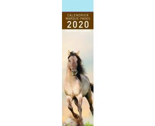 Calendrier marque-page 2020 - PICTURA - 4 x 16 - Chevaux