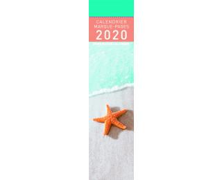 Calendrier marque-page 2020 - PICTURA - 4 x 16 - Esprit mer