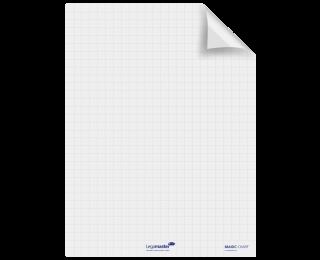 Rouleau 25 feuilles MagicChart électrostatiques et repositionnables - LEGAMASTER - 60  x 80 cm - Version chevalet