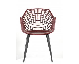 Lot de 2 chaises d'accueil MAKOA - Rouge