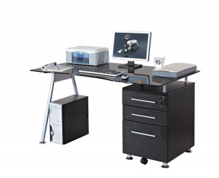 Bureau - GLOSSY - 150cm - Noir