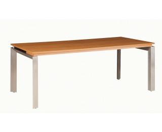 Bureau pieds métal sans voile de fond SLIVER, largeur : 190 cm - Finition noyer/taupe