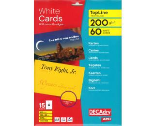 60 Cartes de visite - AGIPA - 128x82mm - 200g - Blanc