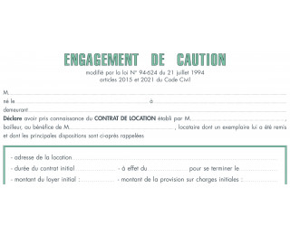 exemples de modèles: Lettre Caution Solidaire