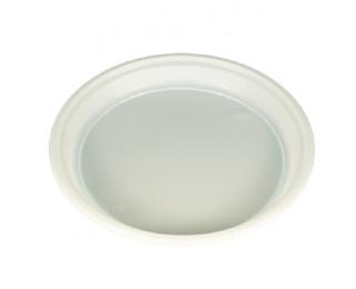 Lot de 20  assiettes jetables - Plastique - 20.5 cm