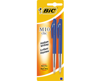 Lot de 2 stylos bille rétractables M10 - BIC - Bleu