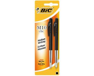 Lot de 2 stylos bille rétractables M10 - BIC - Noir