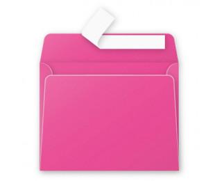 20 Enveloppes 90x140 POLLEN - rose fuchsia 120g bande siliconée