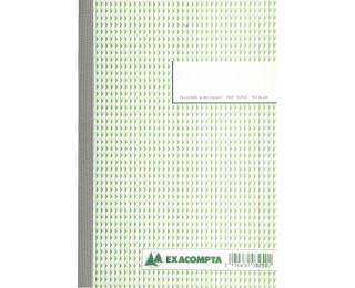 Carnet quadrillé dupli - 3250E - EXACOMPTA - 21 x 14,8 cm