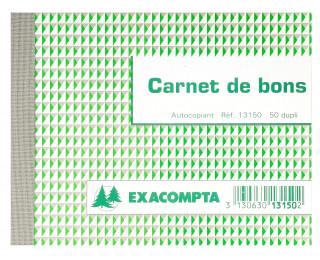 "Carnet ""Bon pour"" dupli - 13150E - EXACOMPTA - 10,5 x 13,5 cm"