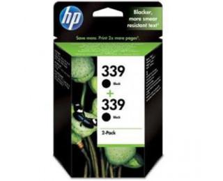 Pack 2 cartouches d'encre HP 339(C8767E) - Noir