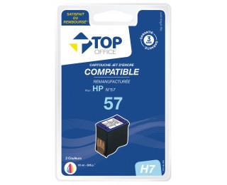 Cartouche d'encre compatible HP : 57 - TOP OFFICE - Couleurs
