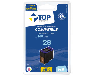 Cartouche d'encre compatible HP : 28 - TOP OFFICE - Couleurs