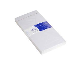 25 enveloppes Vergé gommées doublées - G.LALO - 11x22 - 150g - Ivoire