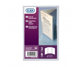 Etui pour carte grise européenne - ELBA - 30/100ème - Transparent