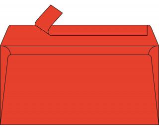 Lot de 20 enveloppes 110 x 220 - POLLEN - 120g - Rouge corail
