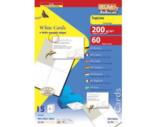 60 Cartes - AGIPA - 148x105mm bords lisses - Blanc