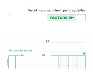 Manifold facture collé en tête - 13282E - EXACOMPTA - 22 x 13,5 cm