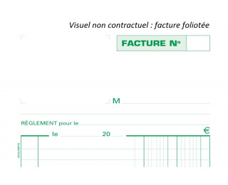 Facturier auto entrepreneur - 13291E - EXACOMPTA - 21 x 29,7 cm