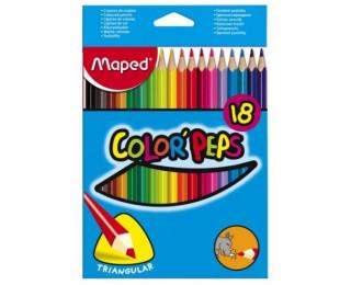 Pochette de 18 crayons de couleur Color pep's - MAPED - Assortiment de couleurs
