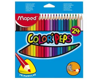 Pochette 24 crayons  Color Pep's MAPED - Couleurs assorties