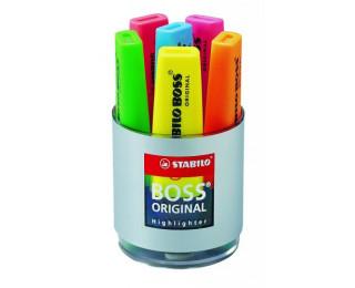 Pot 6 surligneurs Boss - STABILO - Assortiment de couleurs