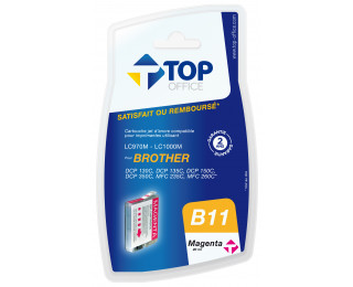 Cartouche d'encre compatible BROTHER LC970 / 1000 - Magenta