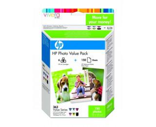 Pack cartouches d'encre HP 363 (Q7966EE) - 6 Couleurs