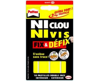 10 pastilles Ni clou ni vis - PATTEX - Double face