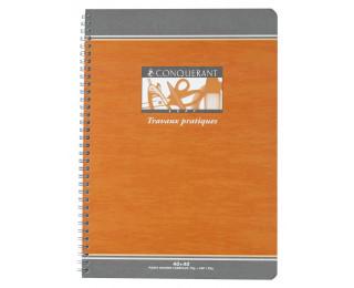 Cahier Travaux Pratiques à spirale A4 - OXFORD - 96 pages - Grands carreaux Séyès / Uni - 21 x 29,7 cm