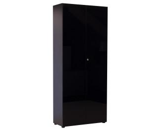 MAXIM Armoire haute noir 2 portes